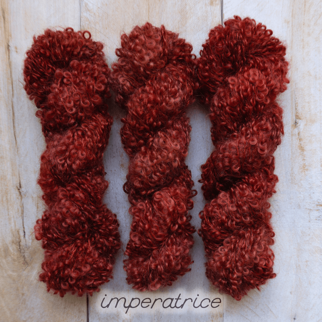 IMPÉRATRICE by Louise Robert Design | BOUCLE MOHAIR hand-dyed semi-solid yarn