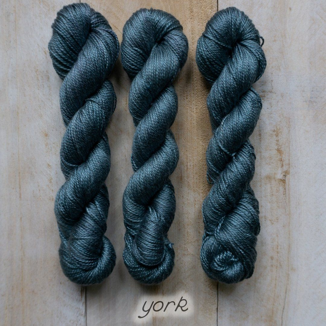 YORK by Louise Robert Design | ALGUA MARINA hand-dyed semi-solid yarn