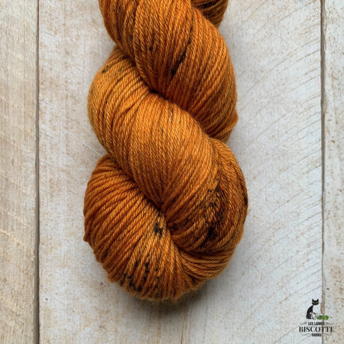 Bis-Sock TIGER'S EYE | hand-dyed Speckled sock yarn | 100g (2x50g) / 50g (mini skein)