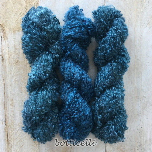 BOTTICELLI by Louise Robert Design | BOUCLE MOHAIR hand-dyed semi-solid yarn