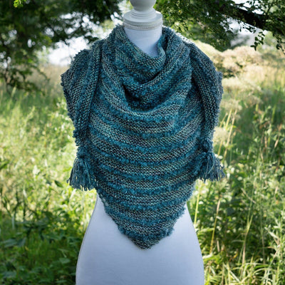 'Boucles à l'Horizon'' Shawl | Free Knitting Pattern