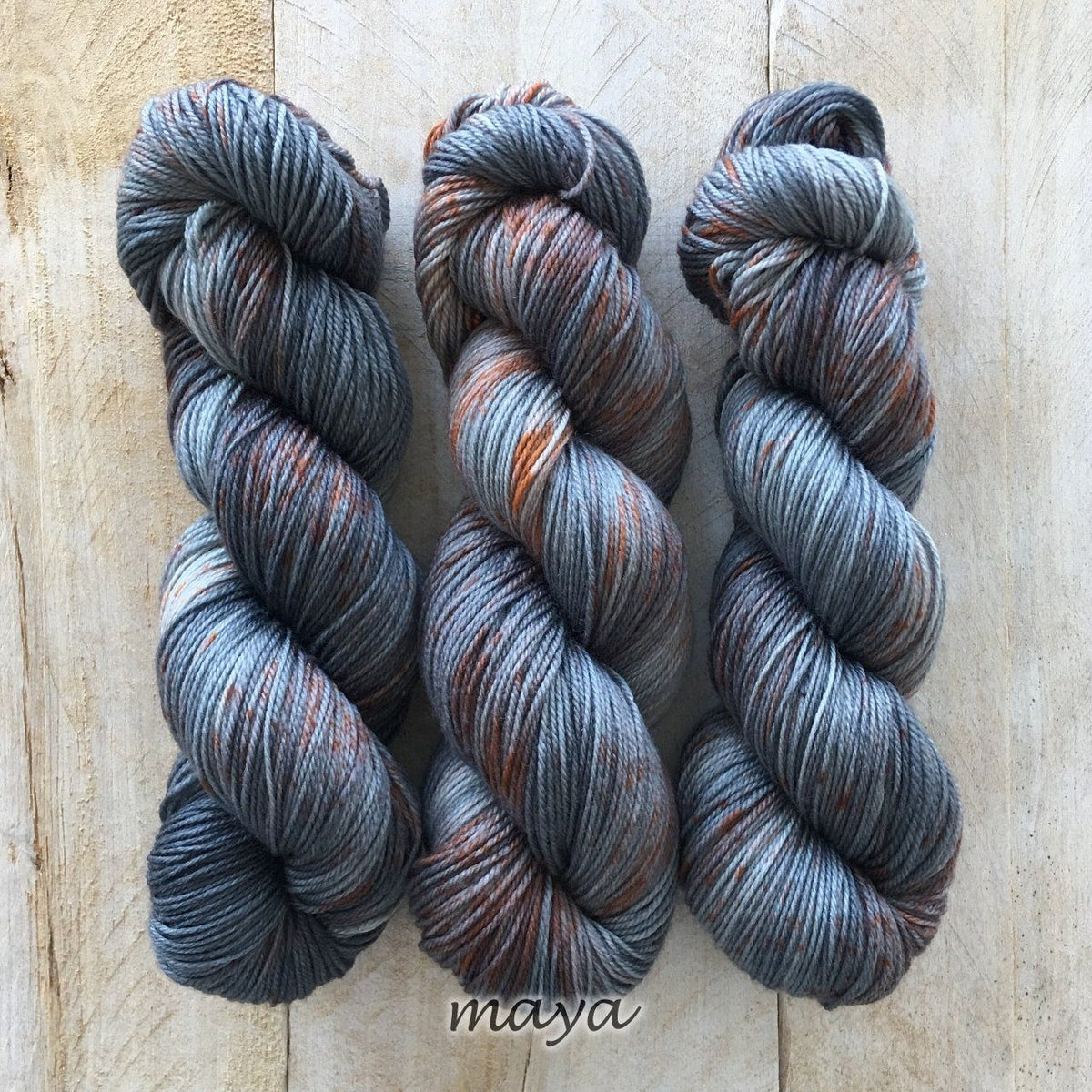 MAYA by Louise Robert Design | SUPER SOCK hand-dyed speckled yarn