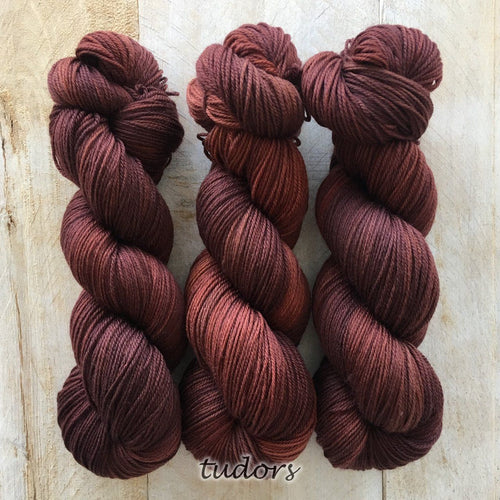 TUDORS by Louise Robert Design | SUPER SOCK hand-dyed semi-solid yarn