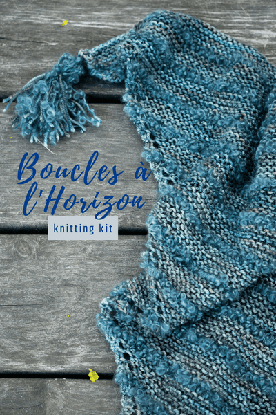 Boucles à l'Horizon Shawl | Knitting Kit
