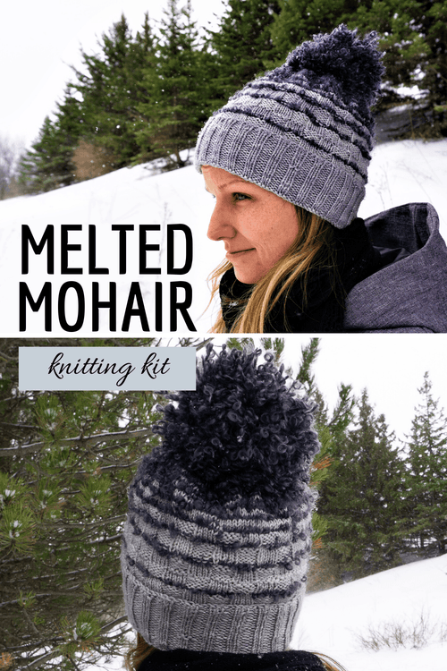 Melted Mohair Hat | Knitting Kit