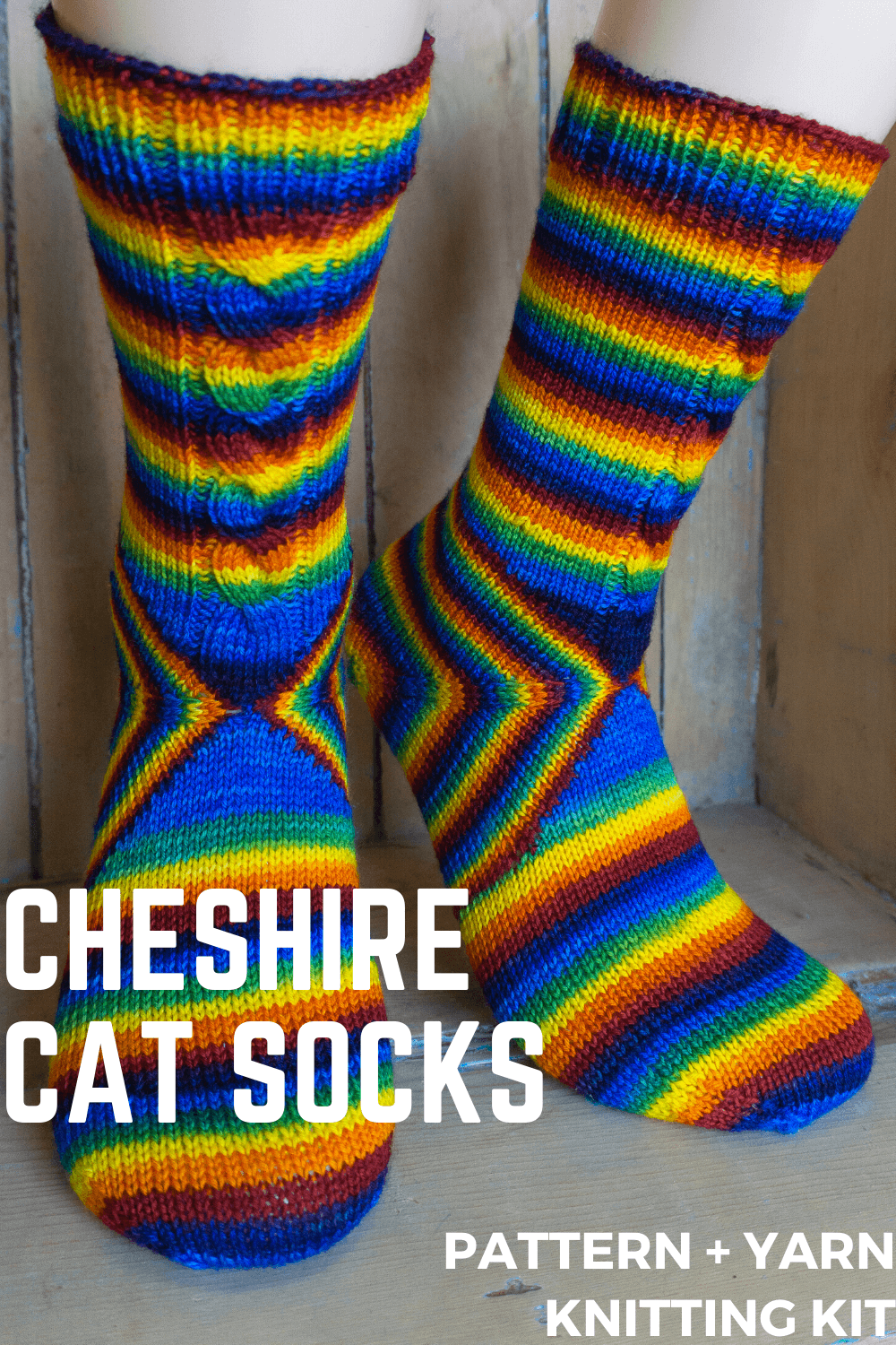 Cheshire Cat Socks | Knitting Kit