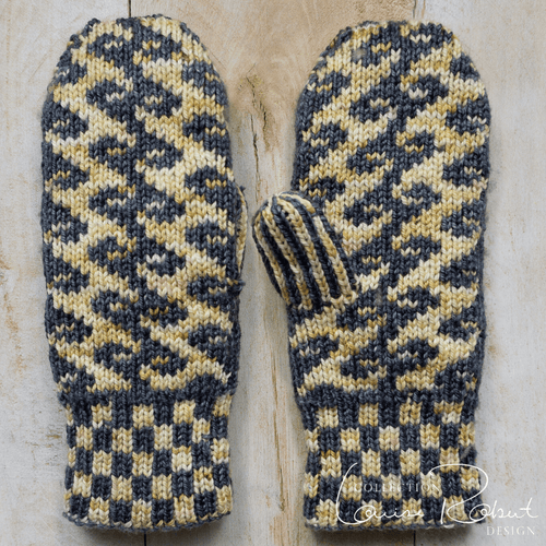 Reversible Fairisle Mittens | Free Double Knitting Pattern