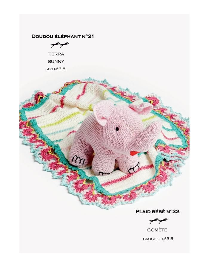 Cheval Blanc pattern Cat. 27-21 - Elephant doudou