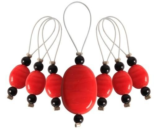 Zooni Stitch Markers - Tangerine