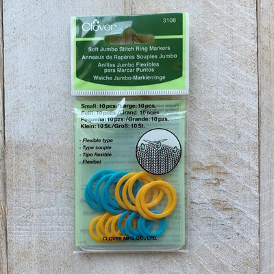 CLOVER circular stitch markers 3107 - 3108