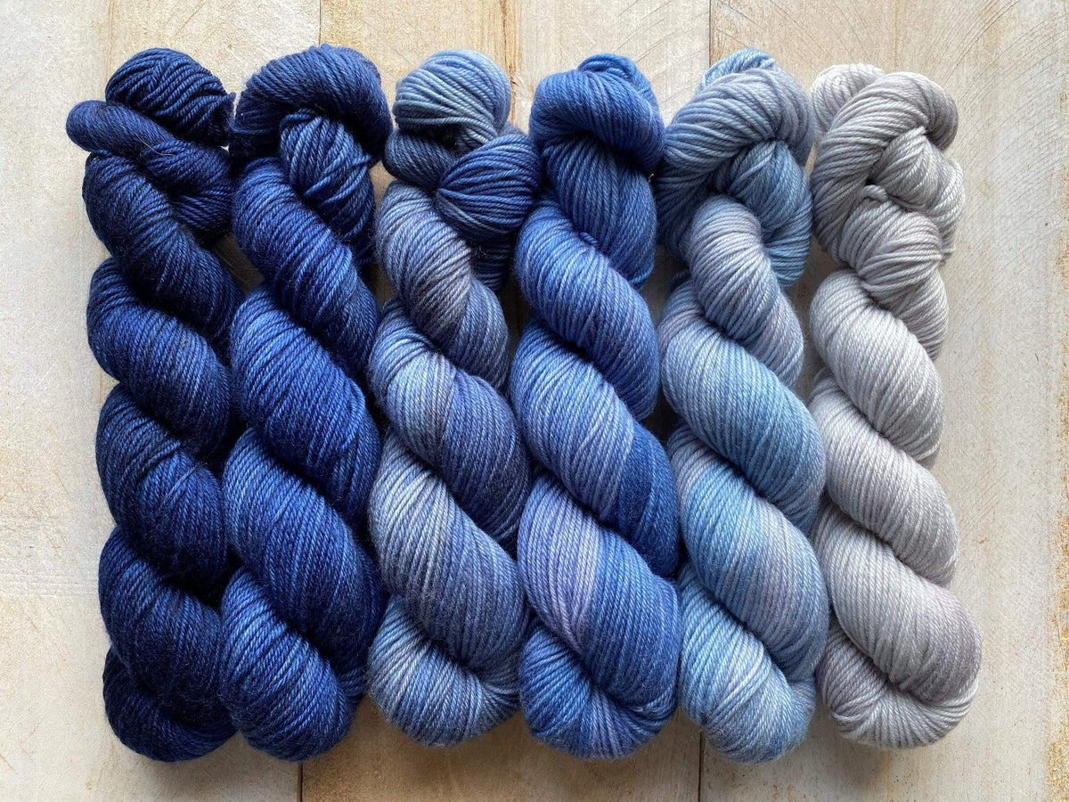 Mini Skeins of Yarn PAINTBOX gradient yarn set  ATMOSPHERE