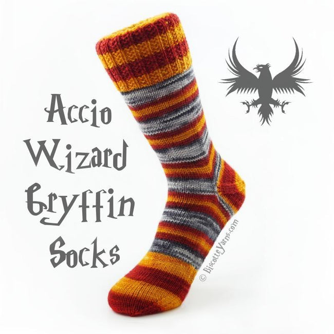 WIZARD SOCK KNITTING KIT 🦉 Yarn (2 X 50 gr) & Pattern