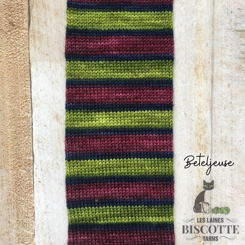 Bis-sock yarn BEETELJUICE self-striping hand-dyed yarn
