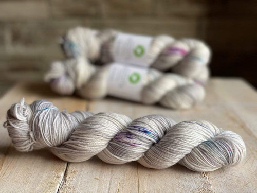Bis-Sock CACHALOT | hand-dyed Speckled sock yarn | 100g (2x50g) / 50g (mini skein)