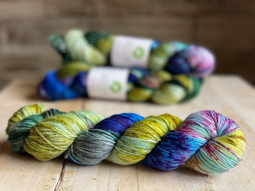 Bis-Sock COMETE | hand-dyed Speckled sock yarn | 100g (2x50g) / 50g (mini skein)