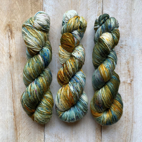Bis-sock yarn Green Gables speckled hand-dyed yarn | 100g(2x50g) or 50g mini skein size