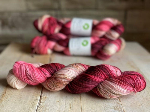 Bis-Sock LAÏLA | hand-dyed Speckled sock yarn | 100g (2x50g) / 50g (mini skein)