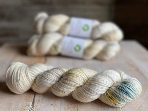 Bis-Sock LET IT BE | hand-dyed Speckled sock yarn | 100g (2x50g) / 50g (mini skein)