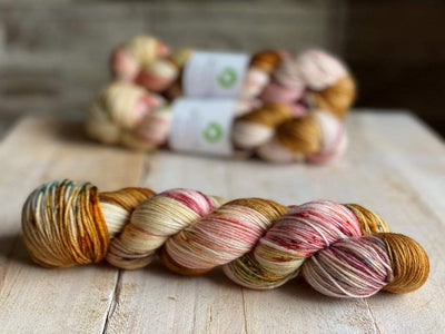 Bis-Sock MAGMA | hand-dyed Speckled sock yarn | 100g (2x50g) / 50g (mini skein)