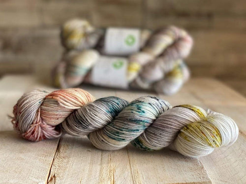 Bis-Sock MALLARD | hand-dyed Speckled sock yarn | 100g (2x50g) / 50g (mini skein)