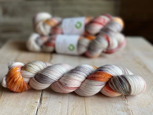 Bis-Sock MORNING DEW | hand-dyed Speckled sock yarn | 100g (2x50g) / 50g (mini skein)
