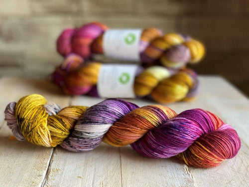 Bis-Sock VIEW OF THE BIRDS | hand-dyed Speckled sock yarn | 100g (2x50g) / 50g (mini skein)