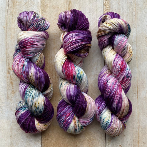 Bis-Sock ORCHIDÉ | hand-dyed Speckled sock yarn | 100g (2x50g) / 50g (mini skein)