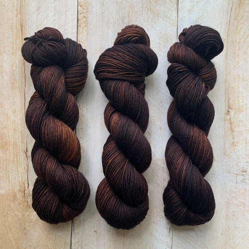 Bis-sock yarn Chocolat hand-dyed yarn | 100g or 50g mini skein size