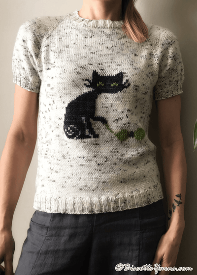Biscot-tee Cat Free Sweater Pattern