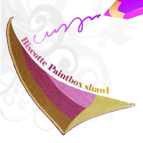 Biscotte Paintbox shawl pattern - Biscotte yarns