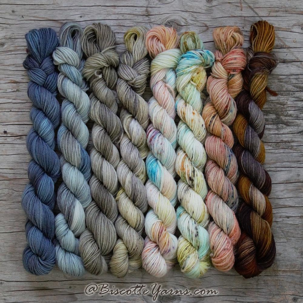 Biscotte Minis - NATURE - 8 Mini Skeins Yarn Set