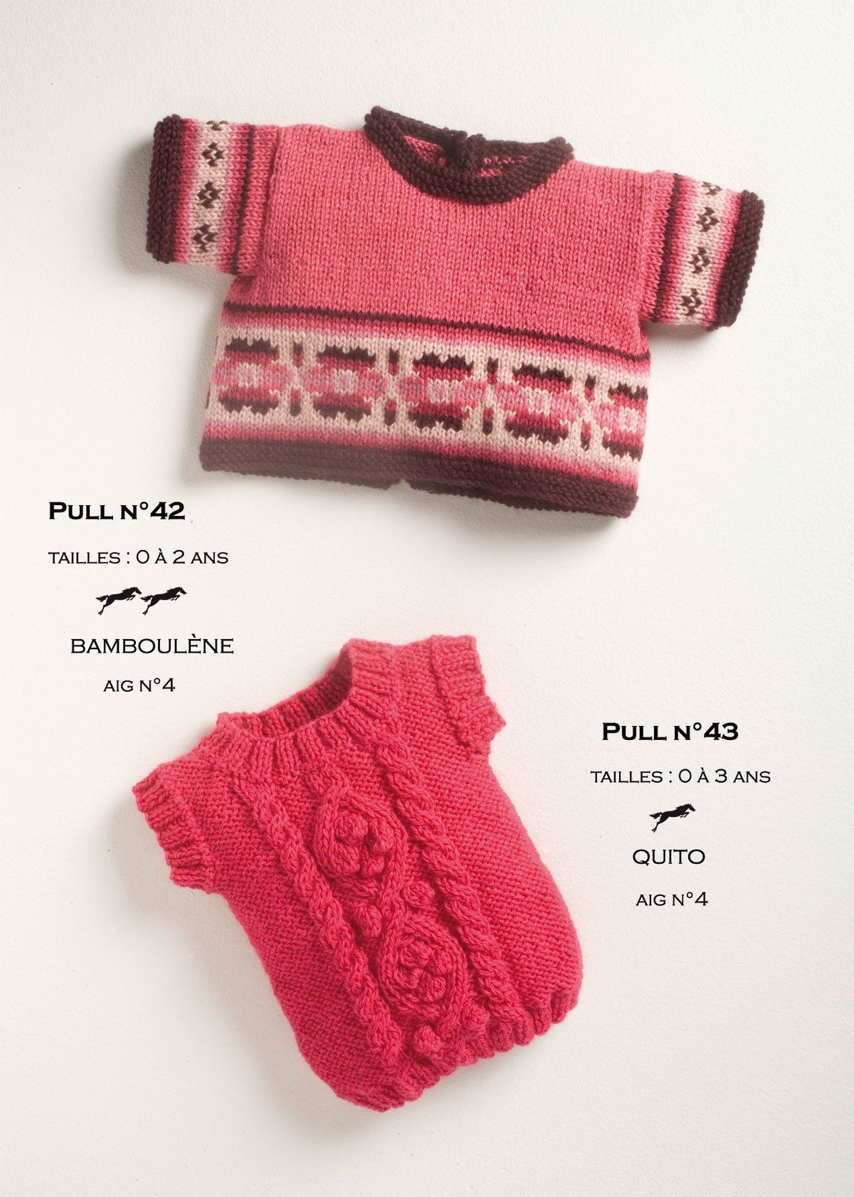 Free Cheval Blanc pattern - Baby sweater cat.13-42