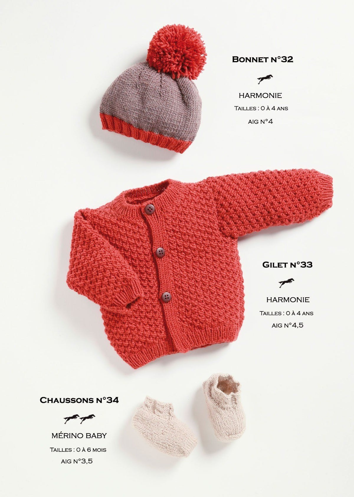 Free Cheval Blanc pattern - Baby booties cat.21-34