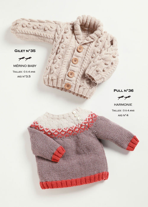 Free Cheval Blanc pattern - Sweater for child cat.21-36