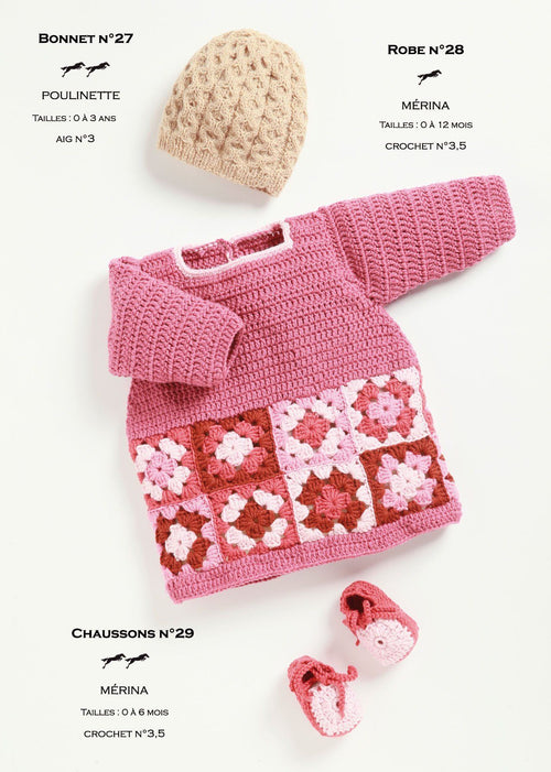 Free Cheval Blanc pattern - Baby booties cat.21-29