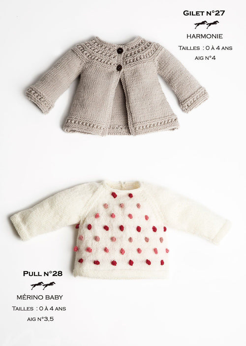 Free Cheval Blanc pattern - Girls vest cat.23-27