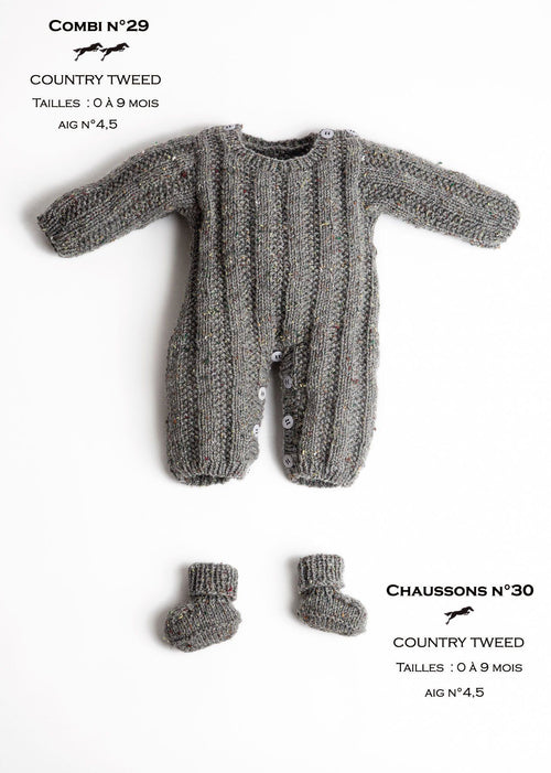 Free Cheval Blanc pattern - Baby booties cat.23-30