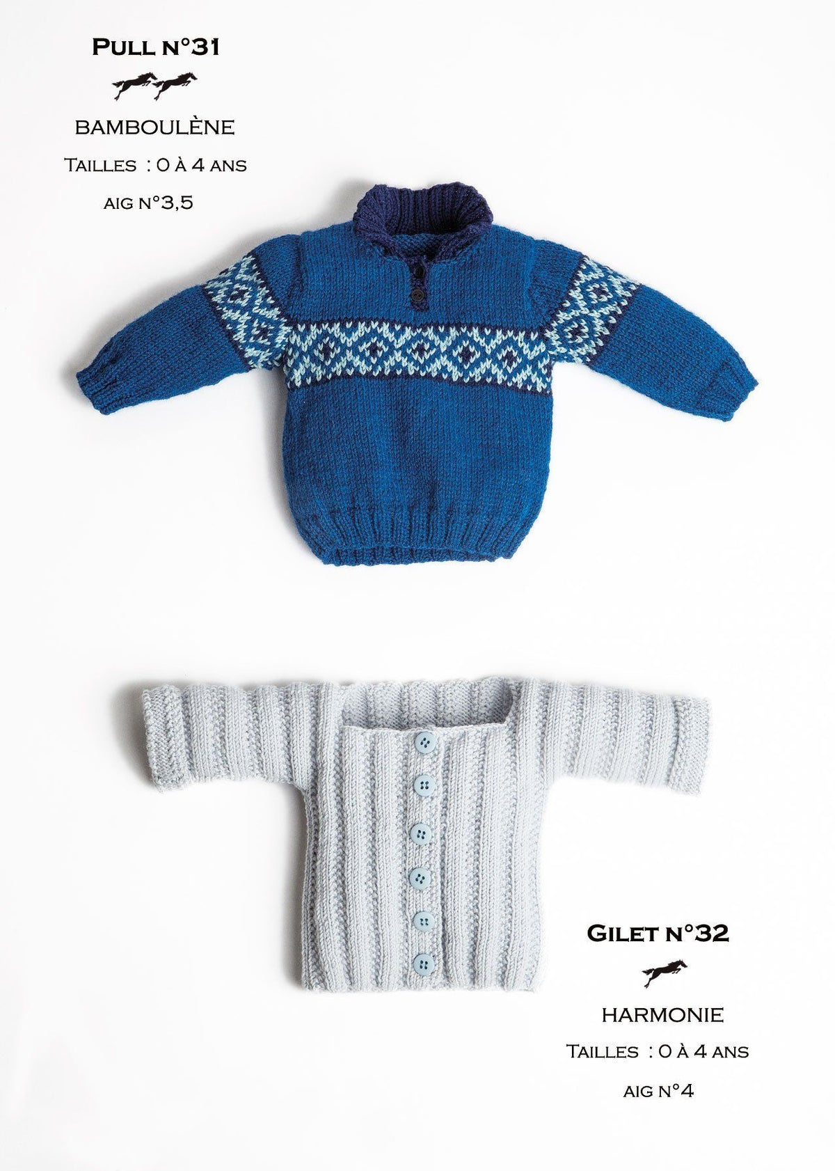 Free Cheval Blanc pattern - Girls vest cat.23-32