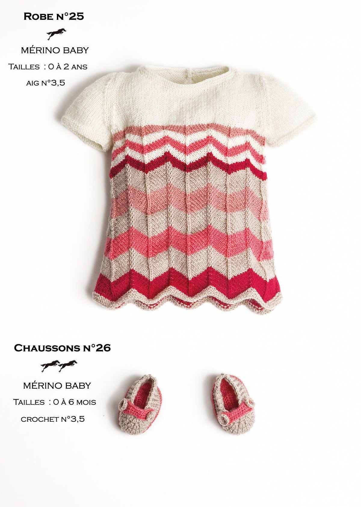 Free Cheval Blanc pattern - Baby booties cat.23-26