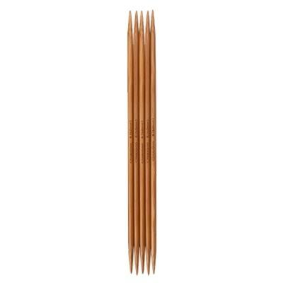 "Double pointed needles 6"" (15 cm) bamboo patina Chiaogoo"