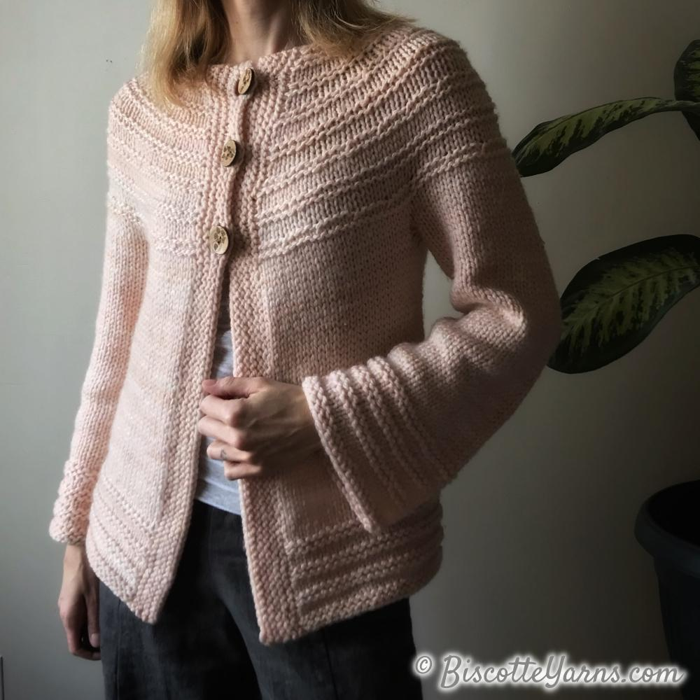 Really Ridgy Cardigan - Free Pattern
