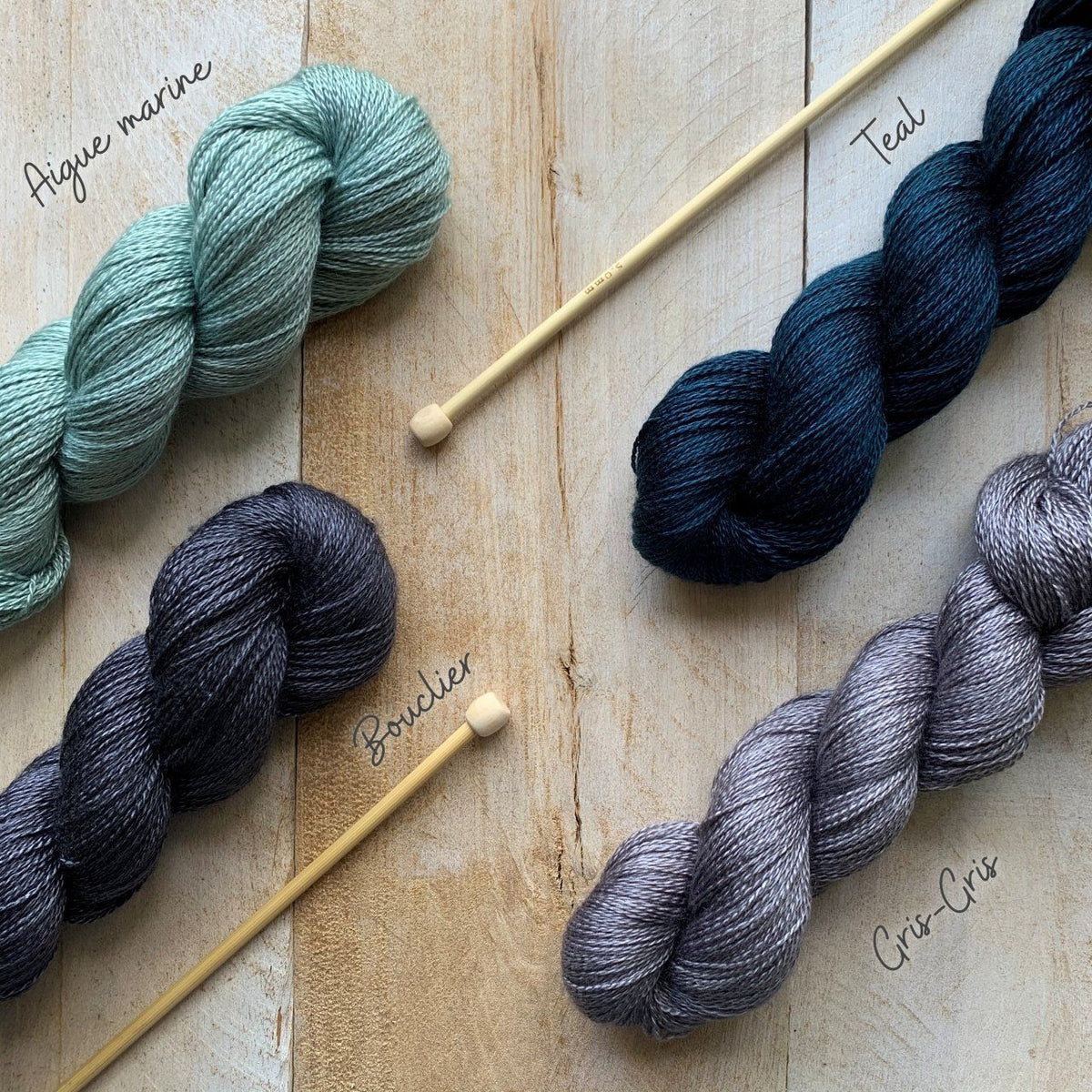 CashSilk Lace yarn Aigue marine