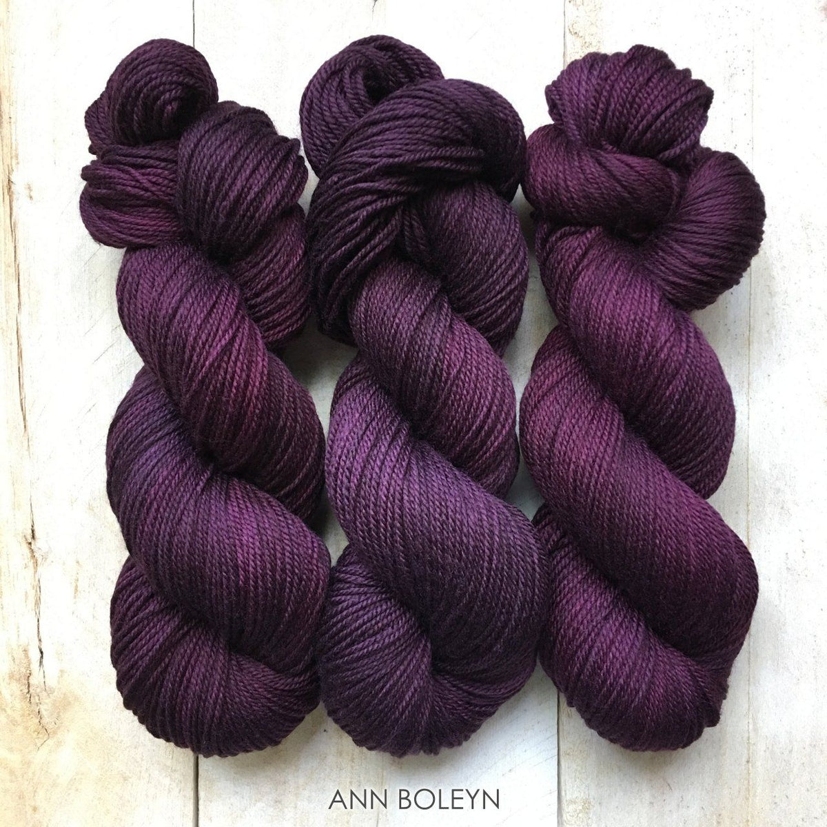 ANN BOLEYN by Louise Robert Design | DK PURE hand-dyed semi-solid yarn