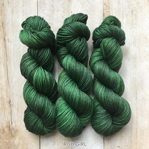 IRISH GIRL by Louise Robert Design | DK PURE hand-dyed semi-solid yarn