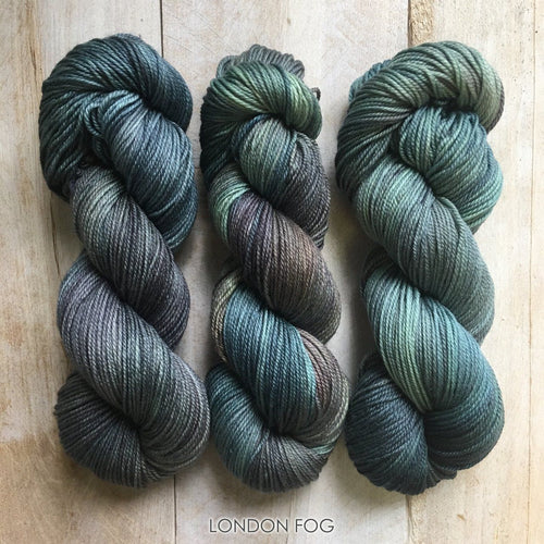 LONDON FOG by Louise Robert Design | DK PURE hand-dyed Variegated yarn