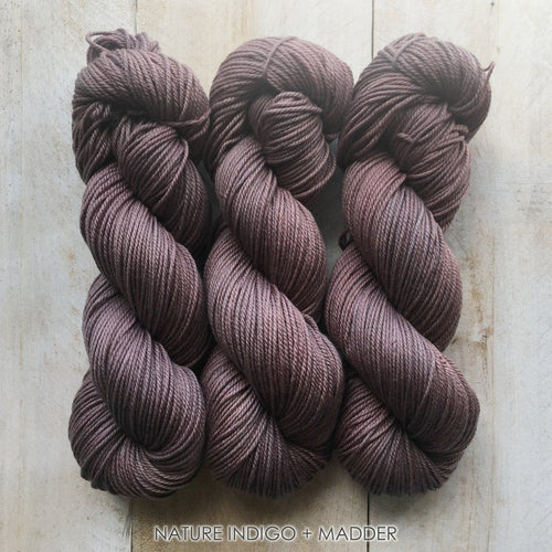 INDIGO+MADDER by Louise Robert Design | DK PURE hand-dyed yarn, natural dyes