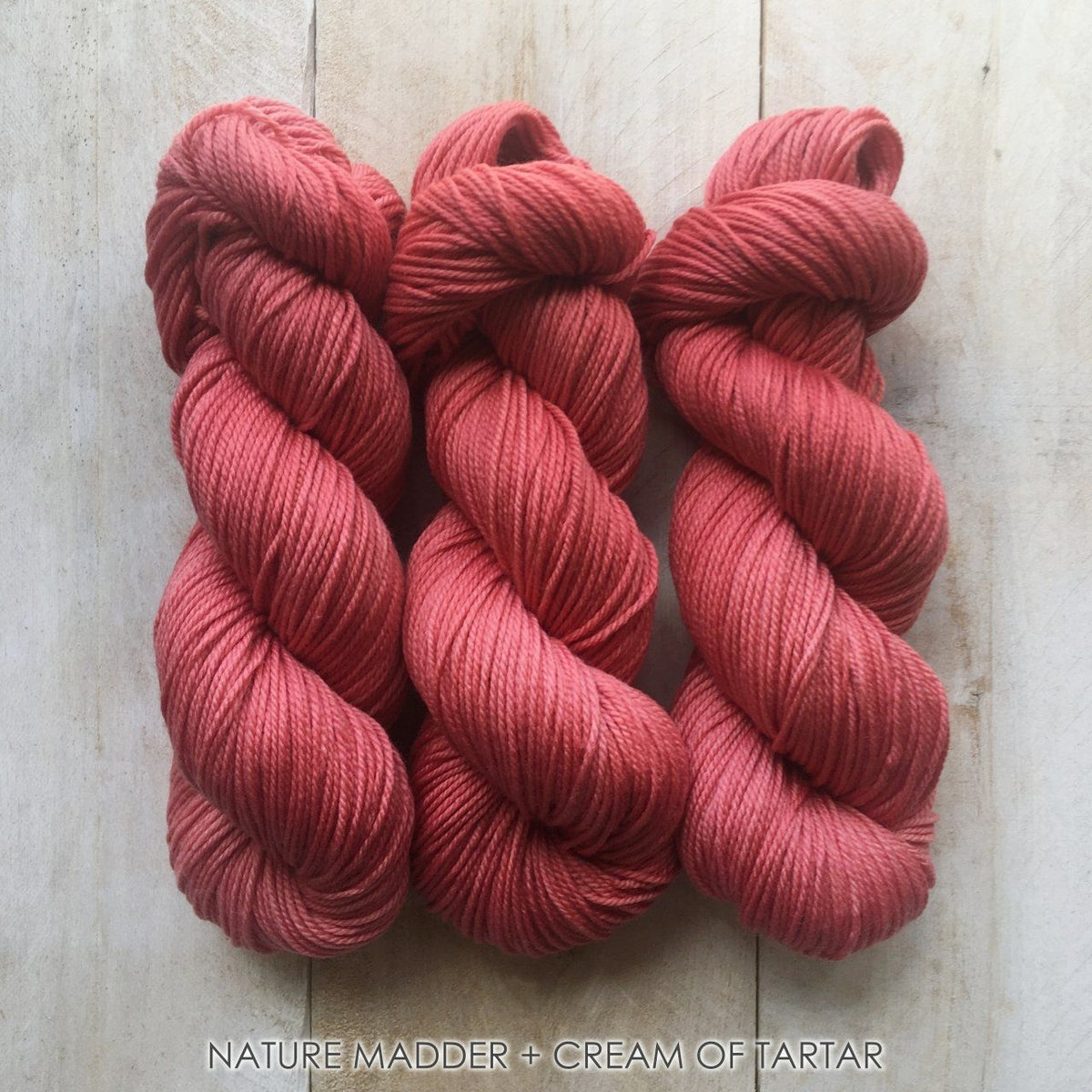 MADDER+CREAM OF TARTAR by Louise Robert Design | SUPER SOCK hand-dyed yarn, natural dyes
