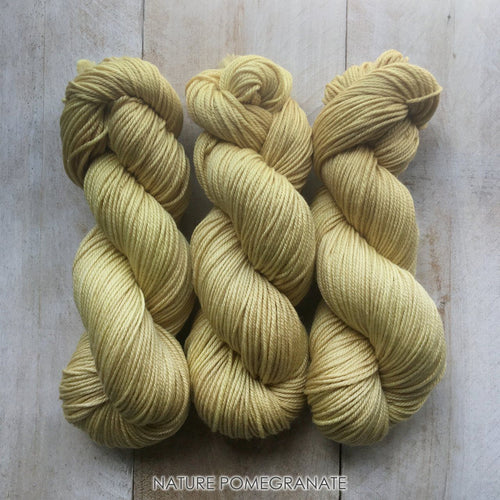 POMEGRANATE by Louise Robert Design | DK PURE hand-dyed yarn, natural dyes