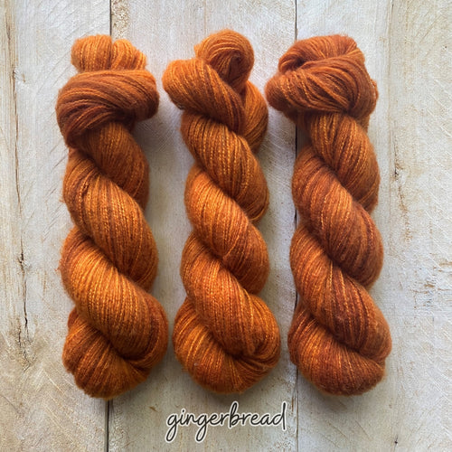 GINGERBREAD by Louise Robert Design | DOLCE hand-dyed semi-solid yarn