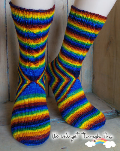 The Cheshire Cat Socks | Knitting Pattern